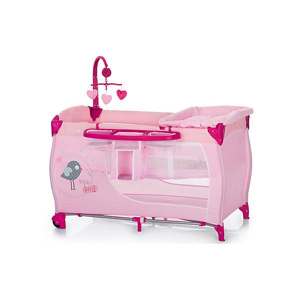 Манеж Baby Center Birdie, HauckМанежи-кровати<br>hauck Babycenter (хаук Бебицентр) – манеж-кроватка для маленьких путешественников. Подарит Вашему малышу ощущение комфорта и защищенности. <br>Каркас манежа сделан из прочной рамы с прозрачными стенками из сетки, имеет два уровня и матрасик. <br>Благодаря колёсам hauck Babyсenter легко переместить в нужное Вам место. <br>Манеж hauck Babyсenter оснащён большим отсеком для хранения игрушек и аксессуаров, а так же музыкальной дугой с игрушками.<br><br>Характеристики hauck Babycenter (хаук Бебицентр):<br>Размер в разложенном виде 60х120 см,<br>Размер в сложенном виде 78х28х28 см,<br>Вес 13,2 кг,<br>2 колесика для перемещения по комнате,<br>Лоток с корманом для аксессуаров,<br>Пеленальный столик,<br>Сумка для транспортировки.<br>Ширина мм: 780; Глубина мм: 280; Высота мм: 280; Вес г: 13200; Возраст от месяцев: 0; Возраст до месяцев: 36; Пол: Женский; Возраст: Детский; SKU: 4743035;
