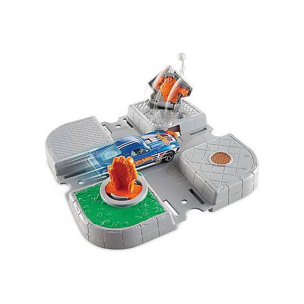 Mattel Автотрек Hot Wheels Сити Остерегайся киборгов