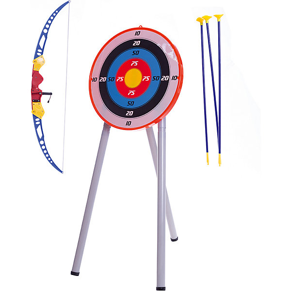 Набор Лук и стрелы с мишенью на треноге, TOY TARGETИгрушечные арбалеты и луки<br>Набор Лук и стрелы с мишенью на треноге, TOY TARGET - позволит ребенку научиться стрелять из древнейшего оружия.<br>Каждый мальчишка мечтает в своём собственном луке со стрелами. С этим набором ваш ребёнок почувствует себя настоящим Робином Гудом! Отточить свою меткость можно с помощью специальной мишени на треноге. Игрушка предназначена для сюжетно-ролевых игр, способствует развитию воображения, познавательного мышления и моторики.<br><br>Дополнительная информация:<br><br>- В наборе: мишень, тренога, лук, 3 стрелы с резиновыми присосками на конце<br>- Материал: пластик<br>- Размер упаковки: 64х42х6,5 см.<br><br>Набор Лук и стрелы с мишенью на треноге, TOY TARGET можно купить в нашем интернет-магазине.<br>Ширина мм: 420; Глубина мм: 65; Высота мм: 640; Вес г: 1500; Возраст от месяцев: 36; Возраст до месяцев: 96; Пол: Унисекс; Возраст: Детский; SKU: 4747496;