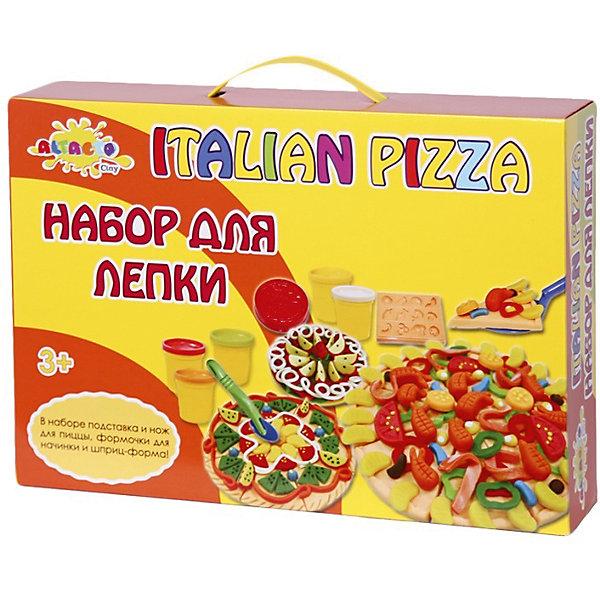 Набор для лепки Волшебство кулинарии - Итальянская ПиццерияНаборы для лепки игровые<br>Яркая масса для лепки из баночек творит чудеса - из неё можно сделать точную мини-копию аппетитной пиццы! Ребёнок сам может выбрать, какую пиццу испечь - с морепродуктами, колбасой, фруктами или всем сразу! В наборе специальный нож и подставка для пиццы, формочки для начинки. Кроме того, содержимое баночек с пластилином можно смешивать, получая новые интересные цвета!<br><br>Лепка развивает у детей творческие способности, навыки моделирования, мелкую моторику. Все материалы экологически безопасны.<br><br>Дополнительная информация:<br><br>- Материал: натуральный состав для лепки, пластик, бумага.<br>- Возраст ребёнка: от 3 до 6 лет.<br>- В наборе: 6 баночек массы для лепки по 85 гр., формочки для начинки, подставка и нож для пиццы, шприц - форма, скалка для теста, стек. <br>- Состав массы для лепки: вода, мука пшеничная, ванильный экстракт, белый вазелин, хлористый натрий (соль), консервант (сорбат калия), хлорид кальция, пигмент цвета.<br>- Размер упаковки: 37x26x7,5 см.<br><br>Купить набор для лепки Волшебство кулинарии - Итальянская Пиццерия можно в нашем магазине.<br>Ширина мм: 370; Глубина мм: 260; Высота мм: 75; Вес г: 1100; Возраст от месяцев: 36; Возраст до месяцев: 72; Пол: Унисекс; Возраст: Детский; SKU: 4753806;