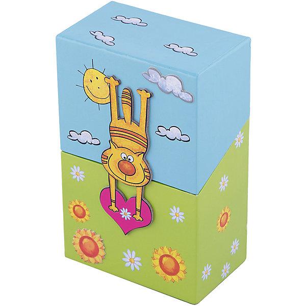 """Фотография товара подарочный канцелярский набор """"Котик"""" (2 записные книжки, стикер,3 книжные закладки) (4756045)"""