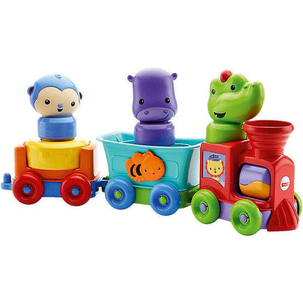 Mattel Обучающий поезд Fisher Price Друзья-животные интерактивный поезд перси fisher price
