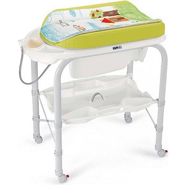 Пеленальный столик Cambio, CAM, салатовый Bebe amore mioПеленальные столы<br>Пеленальный стол Cambio, CAM, идеально подходит для удобного и комфортного ухода за малышом. Основу конструкции составляет металлический каркас с закругленными углами. Съемная анатомическая ванночка может использоваться в 2-х позициях: для малышей от 0 до 6<br>месяцев и от 6 до 12 месяцев. Предусмотрены отделения для губки и мыла и отверстие для подвода воды через трубку. Под дном ванночки крепится удобный пластиковый контейнер с полкой-держателем для бутылочек и необходимых принадлежностей во время купания. Мягкий<br>съемный пеленальный матрасик с высокими бортиками надежно и бережно поддерживает спинку малыша, оснащен системой безопасного крепления и предотвращения падения. Столик оборудован четырьмя колесиками, два из которых со стопорами. Пеленальный столик легко и<br>компактно складывается и не занимает много места при хранении.<br><br><br>Дополнительная информация:<br><br>- Цвет: салатовый.<br>- Материал: металл, пластик.<br>- Размер в разложенном виде: 95 x 54 x 104 см.<br>- Размер в сложенном виде: 83 x 31 x 93 см.<br>- Вес: 10,8 кг.<br><br>Пеленальный стол Cambio, CAM, салатовый Bebe amore mio, можно купить в нашем интернет-магазине.<br>Ширина мм: 800; Глубина мм: 209; Высота мм: 965; Вес г: 13600; Возраст от месяцев: 0; Возраст до месяцев: 12; Пол: Унисекс; Возраст: Детский; SKU: 4761355;