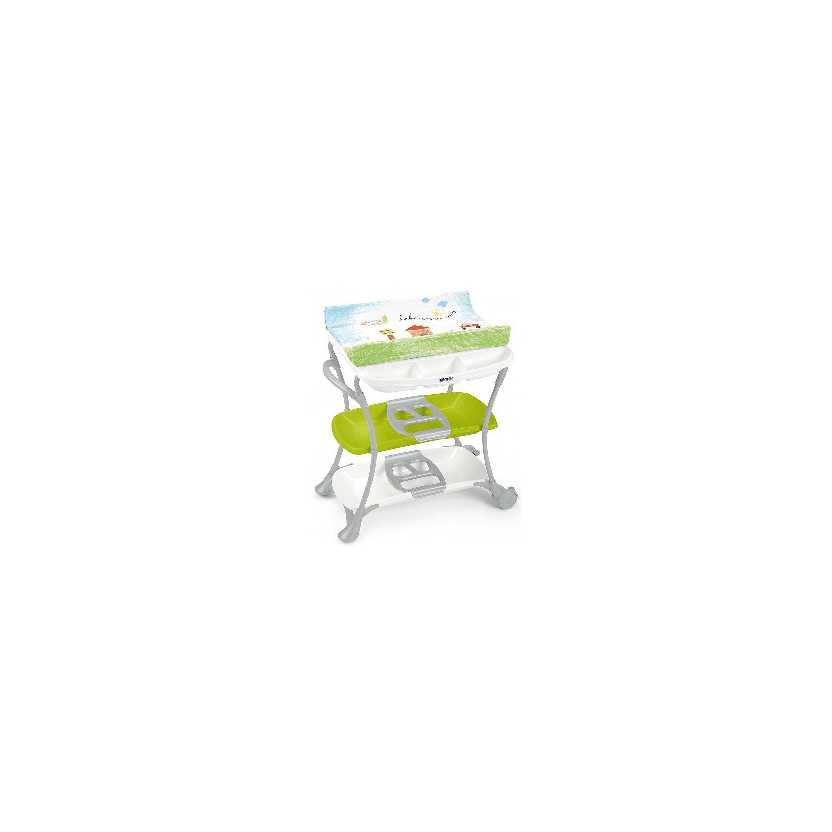 Пеленальный столик Nuvola, CAM, Bebe amore mio с салатовой полкой