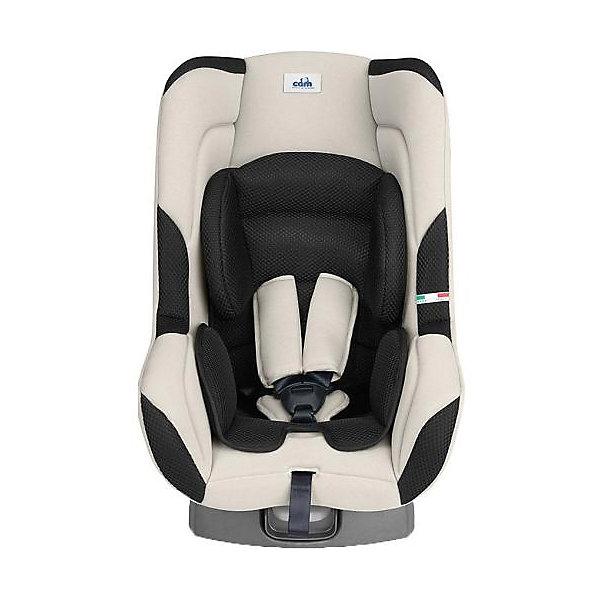Автокресло CAM Auto Gara, 0-18 кг, бежевый/черныйГруппа 0-1 (до 18 кг)<br>Автокресло Auto Gara (Авто Гара), CAM (КАМ) - комфортная надежная модель, которая сделает поездку Вашего ребенка приятной и безопасной. Эргономичное сиденье кресла обеспечивает комфорт и правильное положение позвоночника во время длительных поездок. Для<br>новорожденных предусмотрена съемная мягкая анатомическая вставка. Наклон спинки можно регулировать в 5 положениях, включая положение для сна. Кресло оснащено 5-точечными ремнями безопасности с центральной регулировкой и мягкими плечевыми накладками. Усиленная<br>боковая защита и корпус из прочного пластика уберегут ребёнка от серьезных травм. <br><br>Автокресло легко и надежно фиксируется при помощи штатных ремней безопасности. Для малышей от 0 до 9 месяцев автокресло устанавливается на заднем сиденье лицом против движения авто, для малышей после 9 месяцев кресло устанавливается лицом по ходу движения<br>автомобиля. Кресло изготовлено из высококачественных материалов, съемные тканевые чехлы можно стирать при температуре 30 градусов. Рассчитано на детей от 0 до 3-4 лет, весом 0-18 кг. Кресло имеет европейский сертификат безопасности ЕСЕ R44/03.<br><br><br>Дополнительная информация:<br><br>- Цвет: бежевый/черный.<br>- Группа: 0/1 (от 0 до 18 кг.).<br>- Материал: текстиль, пластик.<br>- Размеры: 43 х 60 х 61 см.<br>- Вес: 6,5 кг.<br><br>Автокресло Auto Gara, 0-18 кг., CAM, бежевый/черный, можно купить в нашем интернет-магазине.<br>Ширина мм: 603; Глубина мм: 417; Высота мм: 880; Вес г: 6580; Возраст от месяцев: 0; Возраст до месяцев: 48; Пол: Унисекс; Возраст: Детский; SKU: 4761358;
