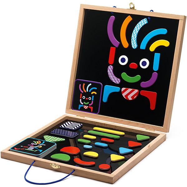 Развивающая магнитная игра Гео человечки, DJECOНастольные игры для всей семьи<br>Магнитная доска Гео-человечки. Эта игра содержит цветные яркие детали разных форм и размеров. Ваш ребенок сможет создавать интересные, оригинальные портреты на специальной магнитной доске. В этом наборе есть много карточек – подсказок с изображением забавных рожиц и человечков. Ваш малыш также сможет пофантазировать самому и создать своих собственных героев. Эта игра принесёт разнообразие в досуге Вашего ребёнка.<br>Ширина мм: 300; Глубина мм: 300; Высота мм: 40; Вес г: 1410; Возраст от месяцев: 36; Возраст до месяцев: 1188; Пол: Унисекс; Возраст: Детский; SKU: 4761435;