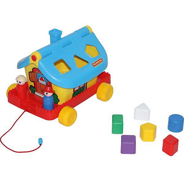Садовый домик на колесиках, ПолесьеРазвивающие игрушки<br>Садовый домик на колесиках, Полесье.<br><br>Характеристики:<br><br>-В наборе: каталка-домик, 6 разноцветных блоков, 2 фигурки человечков<br>- Размер домика: 27,6х22,5х20,5 см.<br>- Материал: высококачественная пластмасса<br>- Упаковка: сетка<br><br>Развивающая игрушка Садовый домик является одновременно каталкой и сортером. В наборе шесть разноцветных деталей различной формы, а в крыше домика есть отверстия, в которые нужно вставлять вкладыши: круг, ромб, треугольник, квадрат, прямоугольник, пятиугольник. Доставать детальки можно через открывающуюся крышу. В домике живут забавные персонажи – мальчик и девочка. Они легко устанавливаются на платформе при помощи специальных штырьков. Игрушка окрашена в яркие радужные цвета. Домик стоит на подставке с колесиками, при желании его можно катать за веревочку. Занятия с игрушкой развивают логическое мышление малыша, координацию движений и моторику рук, а также знакомит ребенка с геометрическими фигурами, цветами.<br><br>Садовый домик на колесиках, Полесье можно купить в нашем интернет-магазине.<br>Ширина мм: 276; Глубина мм: 225; Высота мм: 205; Вес г: 670; Возраст от месяцев: 24; Возраст до месяцев: 60; Пол: Унисекс; Возраст: Детский; SKU: 4763452;