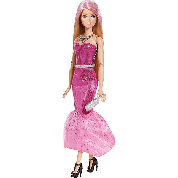 Кукла в платье-трансформере, BarbieБренды кукол<br>Характеристики:<br><br>• возраст: от 3 лет;<br>• материал: пластик;<br>• высота куклы: 30 см;<br>• в наборе: кукла, аксессуары;<br>• вес упаковки: 219 гр.;<br>• размер упаковки: 24х6х33 см;<br>• страна бренда: США.<br><br>Кукла Barbie в платье-трансформере одета в праздничный наряд, любит каблуки и украшения. Но стоит празднику закончиться, как кукла легко меняет образ стильной дивы на простой повседневный. Снимать одежду для этого не нужно.<br><br>В наборе есть необходимые аксессуары для красоты. Волосы куклы можно расчесывать, делать разные прически и даже сделать пряди фиолетовыми. Игрушка выполнена из качественных безопасных материалов.<br><br>Куклу в платье-трансформере, Barbie можно купить в нашем интернет-магазине.<br>Ширина мм: 325; Глубина мм: 243; Высота мм: 63; Вес г: 291; Возраст от месяцев: 36; Возраст до месяцев: 72; Пол: Женский; Возраст: Детский; SKU: 4765307;