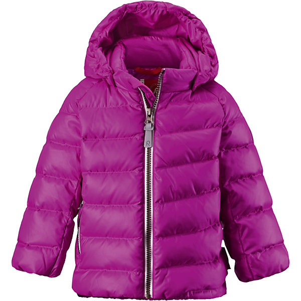 Куртка Minst для девочки ReimaВерхняя одежда<br>Куртка  Reima<br>Пуховая куртка для малышей. Водоотталкивающий, ветронепроницаемый, «дышащий» и грязеотталкивающий материал. Гладкая подкладка из полиэстра. В качестве утеплителя использованы пух и перо (60%/40%). Безопасный, съемный капюшон. Эластичные подол и манжеты. Карман на молнии. Безопасные светоотражающие элементы.<br>Уход:<br>Стирать по отдельности, вывернув наизнанку. Застегнуть молнии и липучки. Стирать моющим средством, не содержащим отбеливающие вещества. Полоскать без специального средства. Во избежание изменения цвета изделие необходимо вынуть из стиральной машинки незамедлительно после окончания программы стирки. Барабанное сушение при низкой температуре с 3 теннисными мячиками. Выверните изделие наизнанку в середине сушки.<br>Состав:<br>100% Полиэстер<br>Ширина мм: 356; Глубина мм: 10; Высота мм: 245; Вес г: 519; Цвет: розовый; Возраст от месяцев: 9; Возраст до месяцев: 12; Пол: Женский; Возраст: Детский; Размер: 80,98,86,92,74; SKU: 4776072;