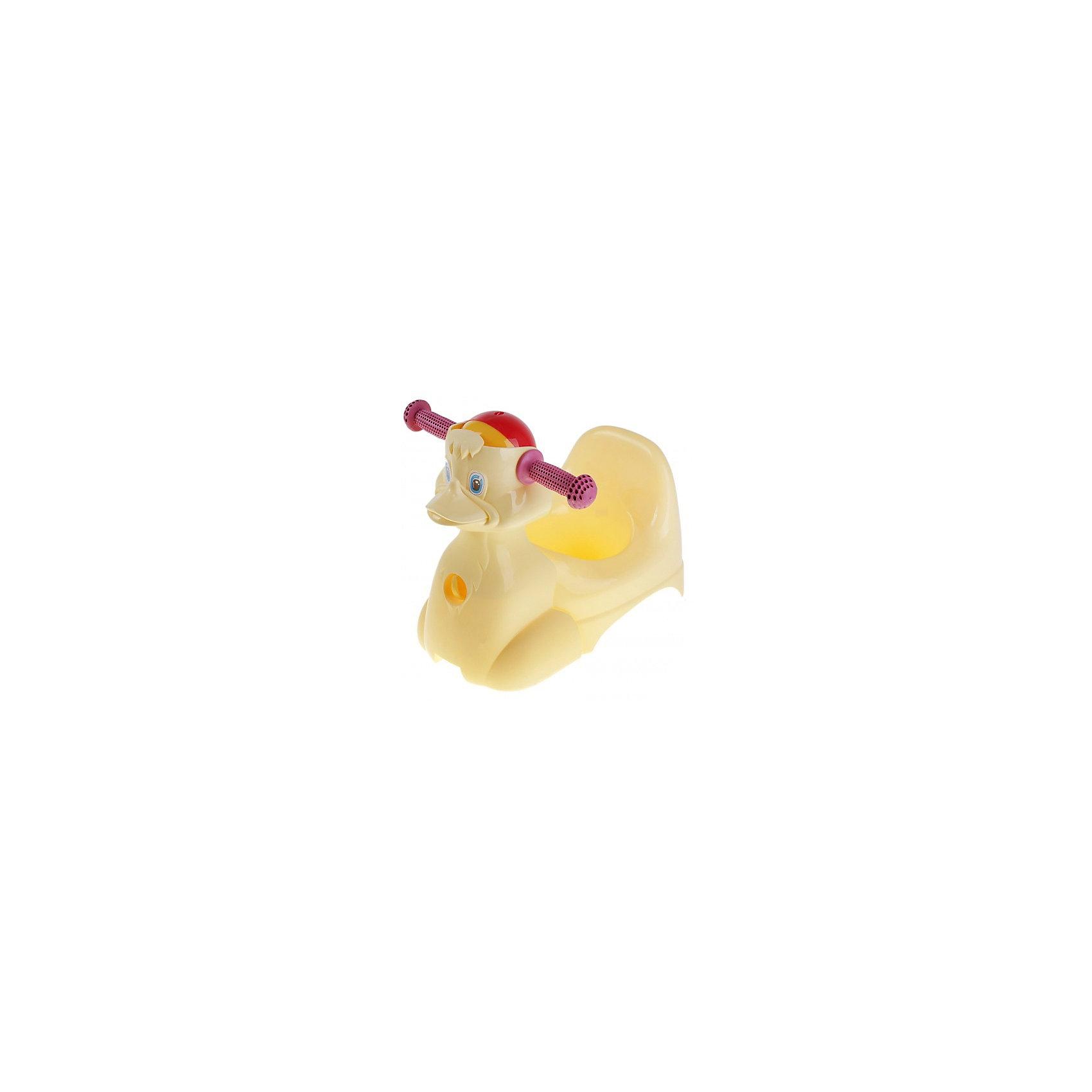 Горшок-игрушка Уточка, Little Angel, желтый (Пластик-Центр)