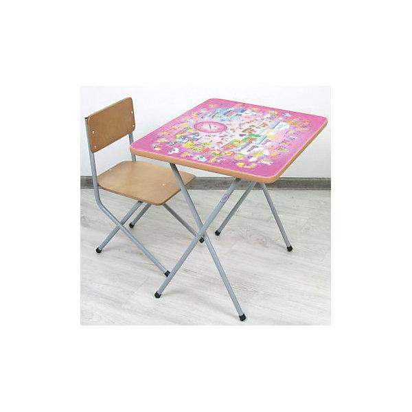 ФЕЯ Комплект детской мебели Алфавит, Фея, розовый