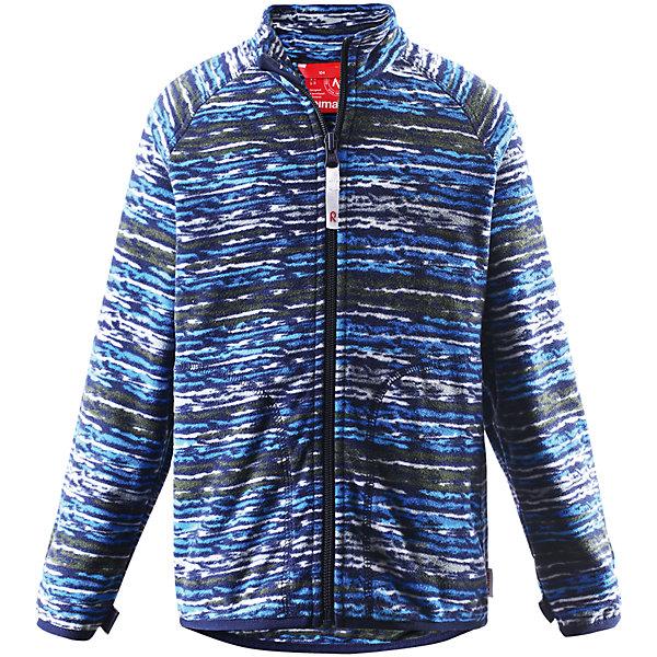Толстовка флисовая Vikkelin ReimaОдежда<br>Толстовка флисовая  Reima<br>Флисовая куртка для детей. Выводит влагу наружу и быстро сохнет. Теплый, легкий и быстросохнущий поларфлис. Может пристегиваться к верхней одежде Reima® кнопками Play Layers®. Эластичные манжеты. Удлиненный подол сзади. Молния по всей длине с защитой подбородка. Боковые карманы. Принт по всей поверхности.<br>Уход:<br>Стирать по отдельности, вывернув наизнанку. Застегнуть молнии. Стирать моющим средством, не содержащим отбеливающие вещества. Полоскать без специального средства.  Сушить при низкой температуре.<br>Состав:<br>100% Полиэстер<br>Ширина мм: 356; Глубина мм: 10; Высота мм: 245; Вес г: 519; Цвет: синий; Возраст от месяцев: 18; Возраст до месяцев: 24; Пол: Унисекс; Возраст: Детский; Размер: 92,98,140,134,128,122,116,110,104; SKU: 4779216;