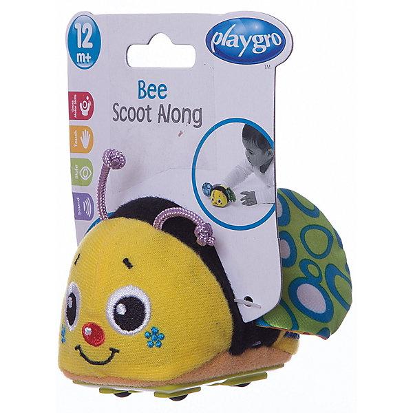 Игрушка инерционная Пчелка, PlaygroКаталки и качалки<br>Креативная игрушка Пчелка принесет ребенку много радости и веселья. Внутри игрушки находится инерционный механизм: если оттянуть ее назад и отпустить, и она моментально убежит вперед. При движении симпатичная пчелка издает характерные звуки, которые развивают слуховое восприятие ребенка.<br><br>Дополнительная информация:<br><br>- Возраст: от 6 месяцев до 3 лет<br>- Материал: пластик, текстиль<br>- Размер: 8х7х8 см<br>- Вес: 0.05 кг<br><br>Игрушку инерционная Пчелка, Playgro можно купить в нашем интернет-магазине.<br>Ширина мм: 80; Глубина мм: 70; Высота мм: 80; Вес г: 50; Возраст от месяцев: 6; Возраст до месяцев: 36; Пол: Унисекс; Возраст: Детский; SKU: 4779539;
