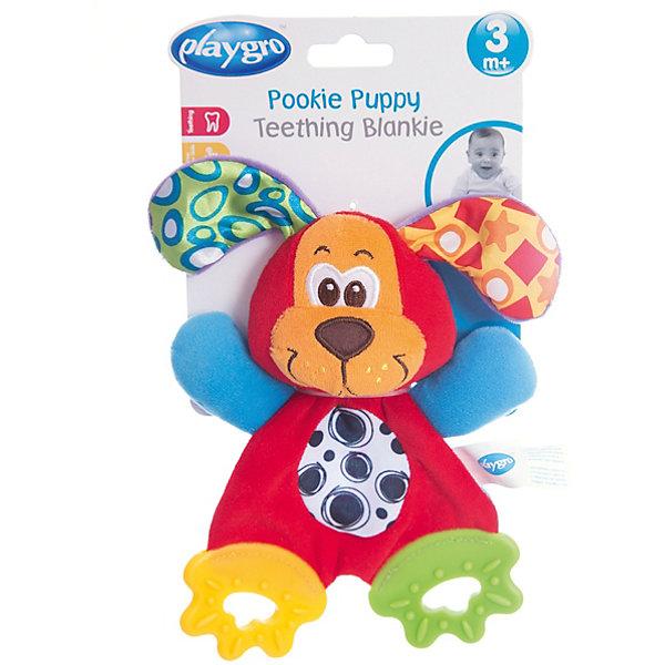 Мягкая игрушка Щенок, PlaygroМягкие игрушки животные<br>С этим милым щенком можно не только играть как с мягкой игрушкой, но и использовать как прорезыватель. На его лапках расположены мягкие грызунки, которые снимут неприятные ощущения во время роста зубов. Так же игрушка будет развивать мелкую моторику и визуальное восприятие ребенка.<br><br>Дополнительная информация:<br><br>- Возраст: от 3 месяцев до 2 лет<br>- Материал: текстиль, пластик<br>- Размер: 13х4х24 см<br>- Вес: 0.06 кг<br><br>Мягкую игрушку Щенок, Playgro можно купить в нашем интернет-магазине.<br>Ширина мм: 130; Глубина мм: 42; Высота мм: 240; Вес г: 60; Возраст от месяцев: 3; Возраст до месяцев: 24; Пол: Унисекс; Возраст: Детский; SKU: 4779542;