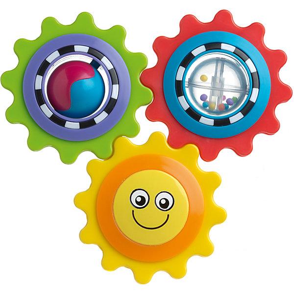 Игрушка развивающая Веселое солнышко, PlaygroИгрушки для новорожденных<br>Игрушка Веселое солнышко не только развеселит кроху, но и будет развивать его пространственное представление и воображение. Яркие и подвижные шестеренки будут концентрировать внимание малыша на мелких деталях. А благодаря безопасному зеркальцу на обратной стороне игрушки он сможет любоваться своим отражением.<br><br>Дополнительная информация:<br><br>- Возраст: от 9 месяцев до 2 лет<br>- Материал: пластик<br>- Размер: 8х1х22 см<br>- Вес: 0.11 кг<br><br>Игрушку развивающую Веселое солнышко, Playgro можно купить в нашем интернет-магазине.<br>Ширина мм: 80; Глубина мм: 10; Высота мм: 220; Вес г: 110; Возраст от месяцев: 9; Возраст до месяцев: 36; Пол: Унисекс; Возраст: Детский; SKU: 4779548;