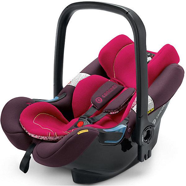Автокресло Concord Air.Safe, 0-13кг, Rose PinkГруппа 0+  (до 13 кг)<br>Характеристики автокресла:<br><br>• группа автокресла: 0+ ;<br>• возраст ребенка: от рождения до года;<br>• вес ребенка: до 13 кг;<br>• способ установки: против хода движения автомобиля;<br>• способ крепления: база Isofix или при помощи ремней безопасности;<br>• автокресло может быть установлено на рамы колясок от Concord серий Fusion и Neo;<br>• кнопка системы TS упрощает процесс установки кресла на базу или шасси коляски;<br>• победитель краш-тестов 2014 ADAC.<br><br>Особенности автокресла:<br><br>• высокие боковины для защиты от боковых ударов;<br>• подголовник эргономической формы регулируется в 3-х положениях по высоте;<br>• регулировка ручки для переноски;<br>• мягкий, дышащий гипоаллергенный материал;<br>• съемные чехлы, можно стирать при 30С.<br><br>Размеры:<br><br>• размер автокресла 63х44х57 см;<br>• вес автокрела: 2,9 кг;<br>• размер упаковки: 35х68х45 см;<br>• вес в упаковке: 4,5 кг.<br><br>Дополнительная комплектация:<br><br>• козырек от солнечных лучей;<br>• двухсторонний вкладыш для новорожденного;<br>• адаптер для установки автокресла на коляски с унифицированным креплением Maxi-Cosi.<br><br>Автокресло Air.Safe, 0-13 кг., Concord, Rose Pink можно купить в нашем интернет-магазине.<br>Ширина мм: 350; Глубина мм: 450; Высота мм: 680; Вес г: 4500; Цвет: розовый; Возраст от месяцев: 0; Возраст до месяцев: 18; Пол: Женский; Возраст: Детский; SKU: 4779871;