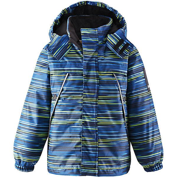 Куртка для мальчика LASSIEОдежда<br>Зимняя куртка для детей Lassietec®. <br><br>- Водо- и ветронепроницаемый, «дышащий» и грязеотталкивающий материал.<br>- Внешние швы проклеены.<br>- Гладкая подкладка из полиэстра.<br>- Средняя степень утепления.<br>-  Безопасный, съемный капюшон.<br>- Эластичные манжеты. <br>- Регулируемый подол.<br>- Передние карманы. <br><br> Рекомендации по уходу: Стирать по отдельности, вывернув наизнанку. Застегнуть молнии и липучки. Соблюдать температуру в соответствии с руководством по уходу. Стирать моющим средством, не содержащим отбеливающие вещества. Полоскать без специального средства. Сушение в сушильном шкафу разрешено при  низкой температуре.<br><br>Состав: 100% Полиамид, полиуретановое покрытие.  Утеплитель «Lassie wadding» 140гр.<br>Ширина мм: 356; Глубина мм: 10; Высота мм: 245; Вес г: 519; Цвет: синий; Возраст от месяцев: 18; Возраст до месяцев: 24; Пол: Мужской; Возраст: Детский; Размер: 92,98,104,110,116,122,128,134,140; SKU: 4782248;