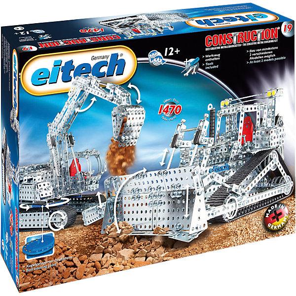 eitech Металлический конструктор Eitech Экскаватор и Бульдозер, 1470 деталей