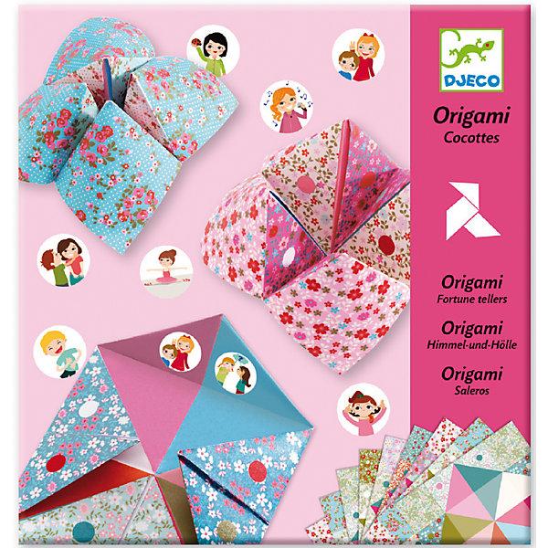 Оригами с фантамиНаборы для оригами<br>Творческий набор оригами с фантами – это не только классическое творческое занятие, но и увлекательное и веселое времяпрепровождение для девочек. Сложив конвертики из декоративной разноцветной бумаги без использования ножниц и клея, и наклеив на внутреннюю сторону наклейки с изображениями различных действий, можно поиграть в фанты со своими подружками. С помощью красочной инструкции ребенок может сложить 6 различных птиц. Занятие оригами развивает моторику рук, творческое и пространственное мышление. В комплекте: 24 листа бумаги для оригами, 3 листа наклеек. Для детей 6-11 лет. Размер упаковки: 22 х 23 см.<br><br>Оригами с фантами можно купить в нашем магазине.