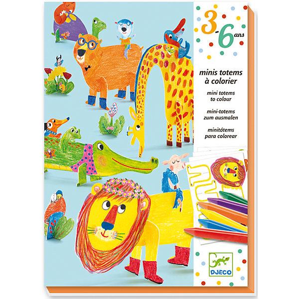 DJECO Набор для раскрашивания с карандашами и наклейками Друзья djeco набор карточек для раскрашивания животные