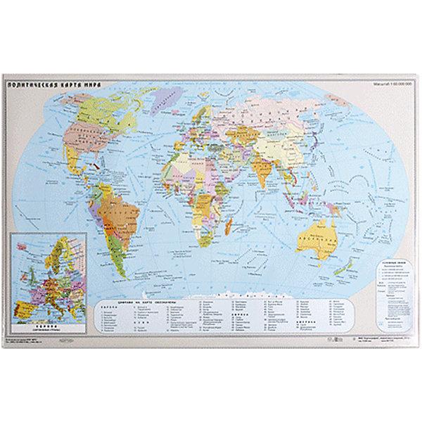 Купить Настольный коврик-подкладка для письма с картой мира, ДПС, Россия, Унисекс