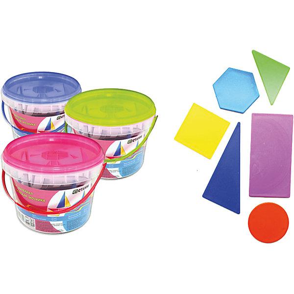 Счетные материалы Геометрическая мозаика, СТАММПособия для обучения счёту<br>Яркий и интересный обучающий материал для изучения геометрических фигур и основ счета в игровой форме. <br>Содержание: <br>Прямоугольник - 15 шт., квадрат - 15 шт., круг - 15 шт., шестиугольник - 15 шт., треугольник 45° - 30 шт., треугольник 30° - 30 шт.<br><br>Дополнительная информация: <br><br>- Общее количество элементов - 120 шт.<br>- Материал-сертифицированный полипропилен.<br>- Все фигуры имеют закругленные углы.<br>- Упаковка - пластиковое ведёрко.<br>- В упаковке вкладыш с примерами изображений.<br>- Размер упаковки: 13,5х13,5х10 см.<br>-  Вес в упаковке: 211 г.<br><br>Счетные материалы Геометрическая мозаика  СТАММ  можно купить в нашем магазине.<br>Ширина мм: 135; Глубина мм: 135; Высота мм: 100; Вес г: 211; Возраст от месяцев: 72; Возраст до месяцев: 2147483647; Пол: Унисекс; Возраст: Детский; SKU: 4792769;