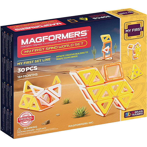 MAGFORMERS Магнитный конструктор My First Sand World, MAGFORMERS