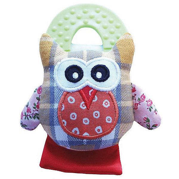 Roxy-Kids Развивающая игрушка на руку с прорезывателем Совенок Угу, Roxy-Kids бинокль levenhuk левенгук atom 10x25