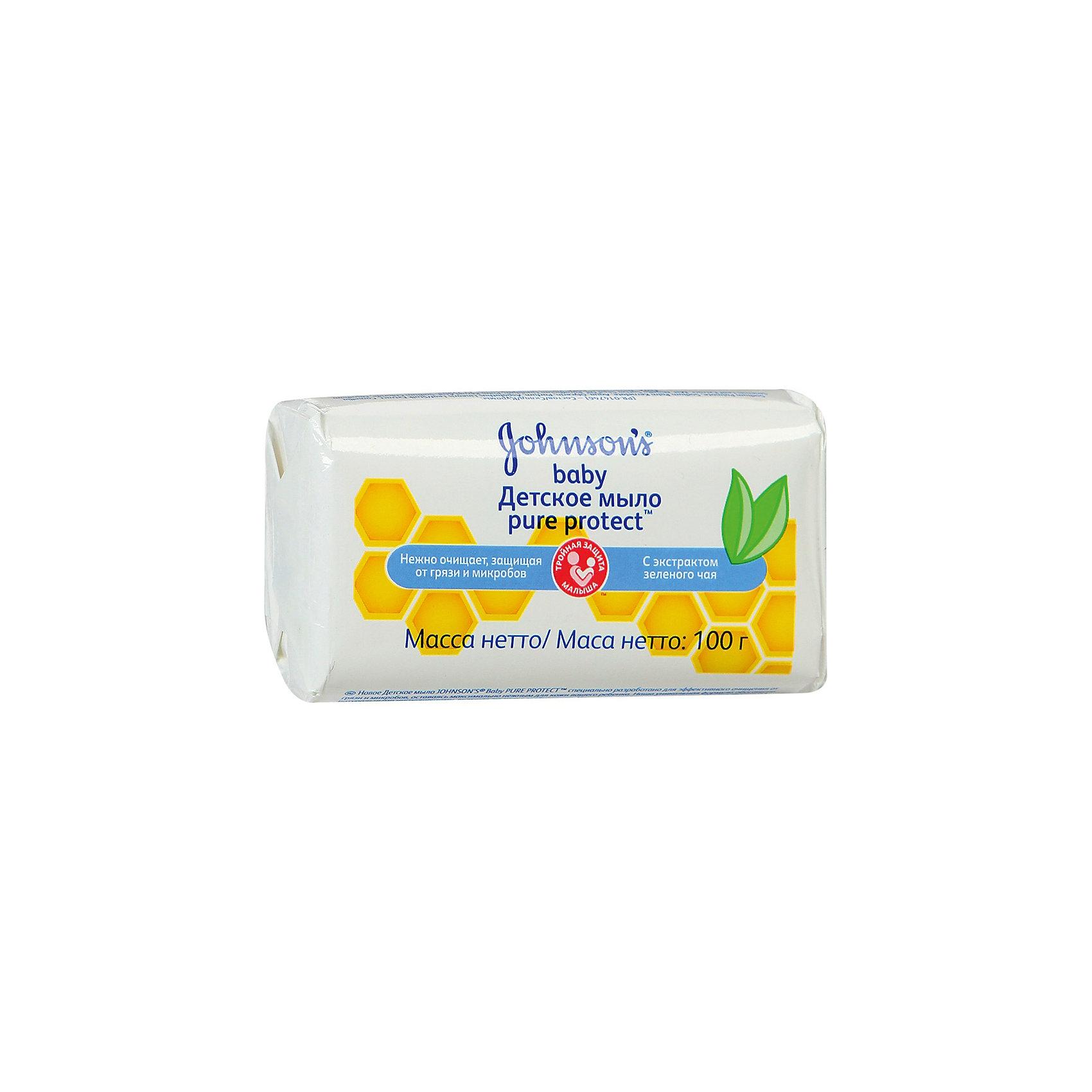 Детское мыло Pure Protect 100 гр , Johnsons baby