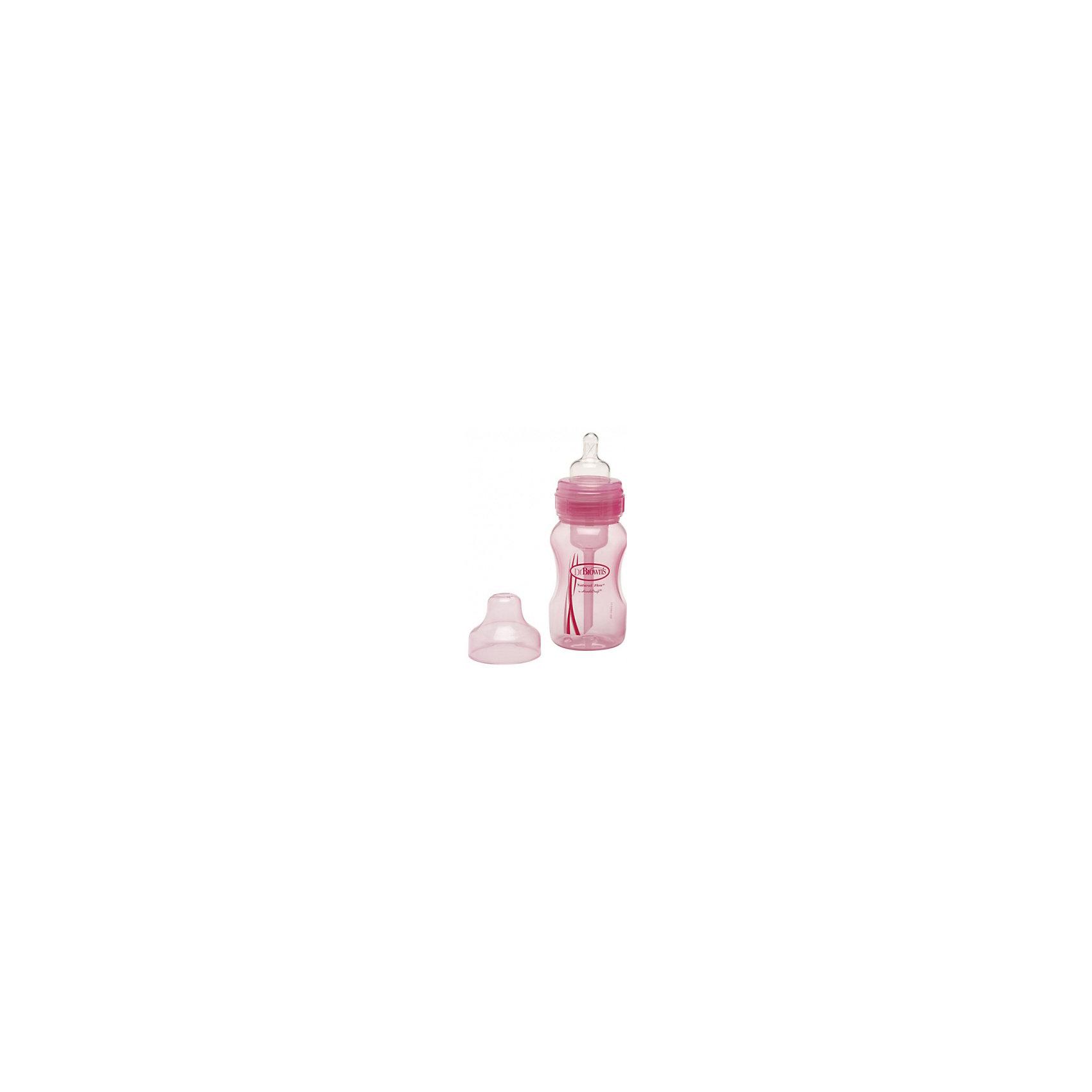 Бутылочка с широким горлышком 240 мл, полипропилен, Dr. Brown, розовый (Dr.Browns)