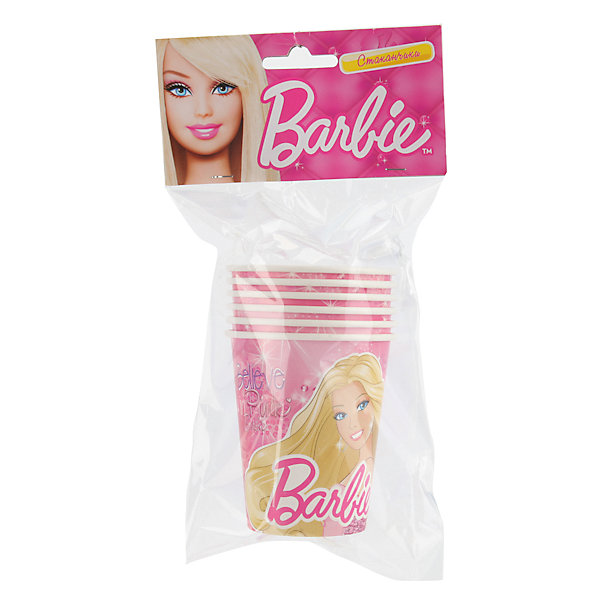 Набор из 6-и стаканчиков, BarbieДетский День рождения для девочки<br>В день рожденья праздничным должен быть не только торт на столе, но и посуда. Бумажные стаканчики с изображением Барби отлично подойдут для выездных праздников и девчачьих вечеринок. Девочки оценят сервировку стола и будут приятно удивлены, увидев изображение любимой красавицы-куклы.<br><br>Дополнительная информация:<br><br>- Материал: плотный картон.<br>- Комплект: 6 шт.<br>- Объем: 150 мл.<br>- Размер упаковки: 13х23х8 см.<br>- Вес в упаковке: 60 г.<br><br>Купить Набор из 6-ти стаканчиков Barbie  можно в нашем магазине.<br>Ширина мм: 13; Глубина мм: 23; Высота мм: 8; Вес г: 60; Возраст от месяцев: 12; Возраст до месяцев: 2147483647; Пол: Женский; Возраст: Детский; SKU: 4797412;