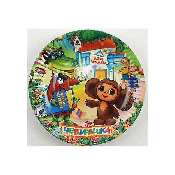 Веселый праздник Набор тарелок Чебурашка, 6 штук