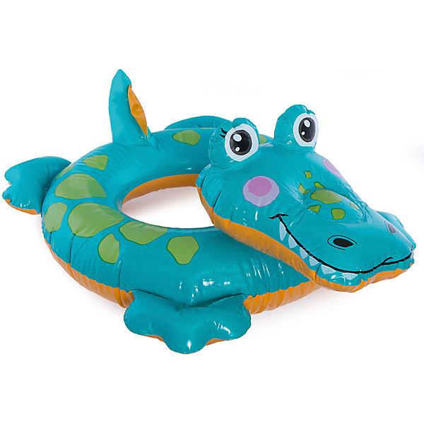 Intex Детский надувной круг Зверюшка - Крокодил, Intex круг надувной baby swimmer розовый полуцвет 3 12 кг bs02p