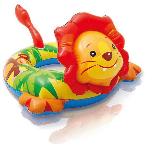 Intex Детский надувной круг Зверюшка - Лев, Intex круг надувной intex hello kitty