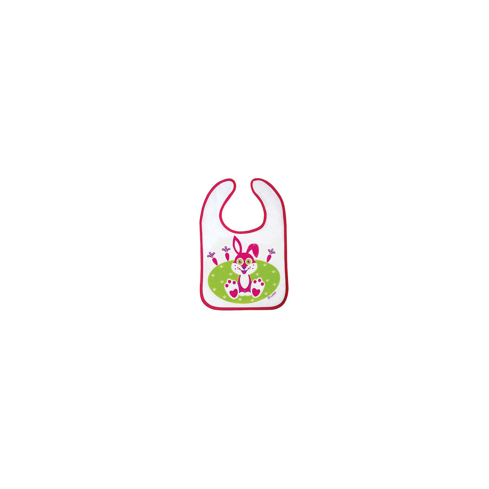 Нагрудник с карманом на завязках В мире животных от 6 мес., 3 шт., LUBBY