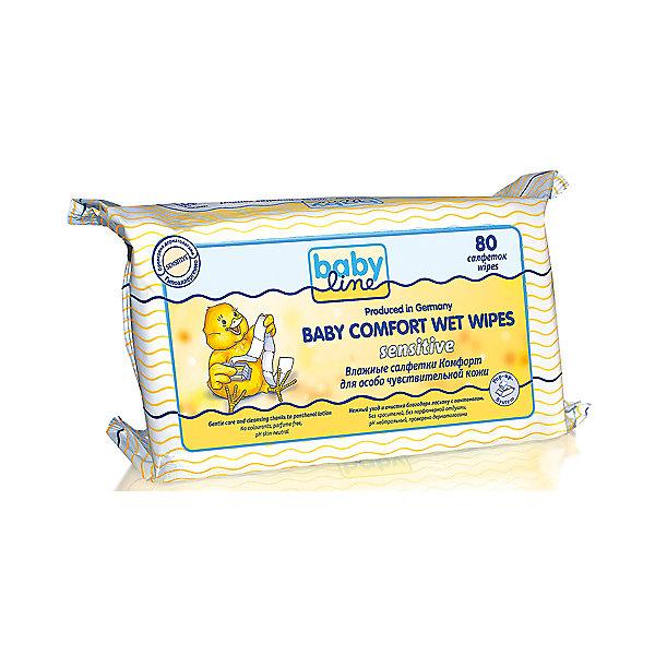 Babyline Влажные салфетки Комфорт Sensitivе, 80 шт., BABYLINE
