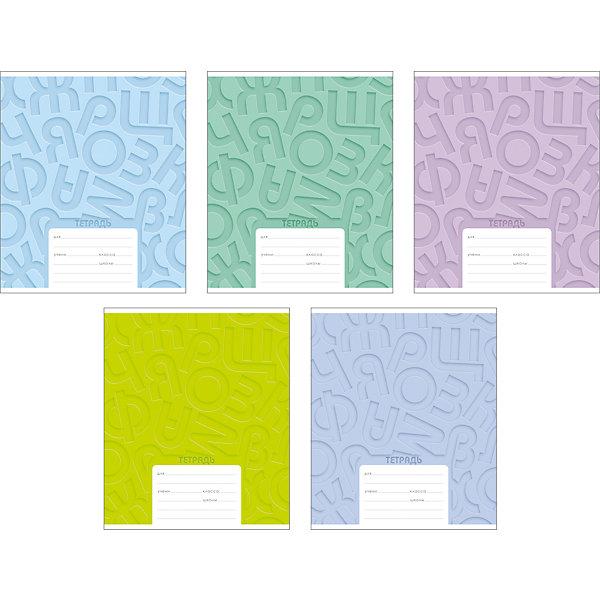 Erich Krause Тетрадь Типографика буквы, 18 л., 10 шт., линейка erich krause тетрадь 12 листов цвет голубой упаковка из 10 шт линейка