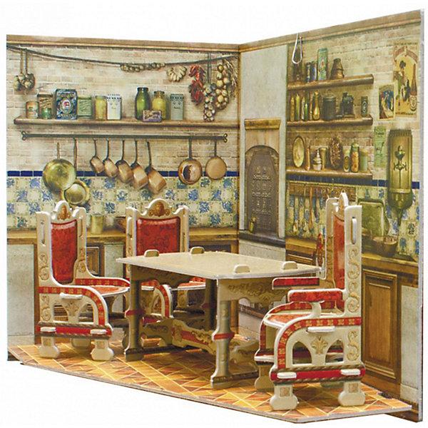Сборная модель Румбокс КухняМодели из бумаги<br>Румбокс -кухня - Сюжетный игровой набор из плотного картона. Серия: Кукольный дом и мебель. Количество деталей, шт: 2. Размер в собранном виде, см: 26 x 20 x 15. Размер упаковки, мм.:  высота 255 ширина 210 глубина 5. Тип упаковки: Пакет ПП с подвесом. Вес, гр.: 188. Возраст: от 7 лет. Все модели и игрушки, созданные по технологии УМНАЯ БУМАГА собираются без ножниц и клея, что является их неповторимой особенностью.<br>Принцип соединения деталей запатентован. Соединения деталей продуманы и просчитаны с такой точностью, что при правильной сборке с моделью можно играть, как с обычной игрушкой.<br>Ширина мм: 210; Глубина мм: 5; Высота мм: 255; Вес г: 188; Возраст от месяцев: 84; Возраст до месяцев: 2147483647; Пол: Унисекс; Возраст: Детский; SKU: 4807423;