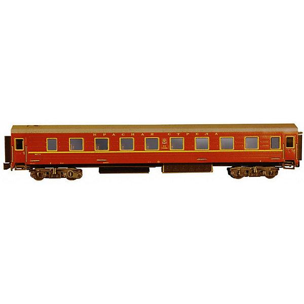 Умная Бумага Сборная модель Спальный вагон Красная стрела