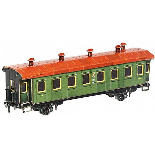 Умная Бумага Сборная модель Пассажирский вагон умная бумага сборная модель из картона путевая сторожка эпоха i м1 87 298