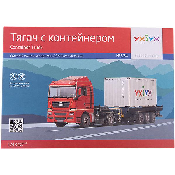 Умная Бумага Сборная модель Тягач с контейнером масштабные модели