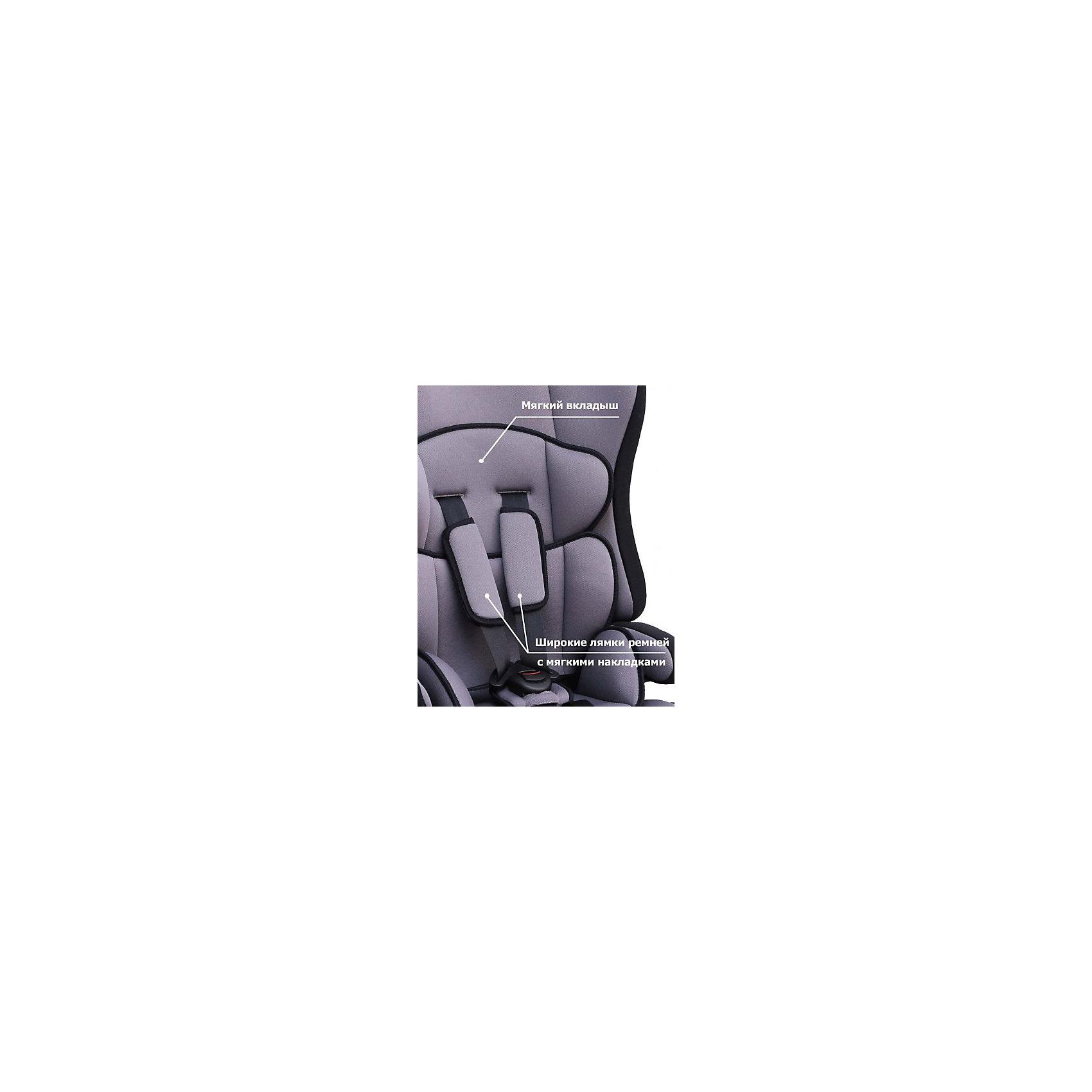 Автокресло Siger Прайм isofix 9-36 кг, серый