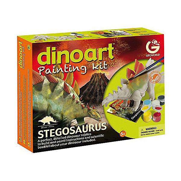 Geoworld Набор для творчества Диноарт Стегозавр конструкторы geoworld набор для проведения раскопок мозазавр серия dr steve hunters