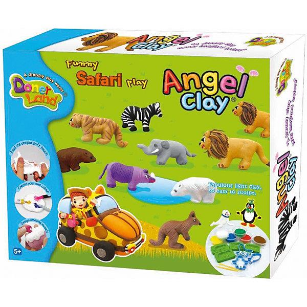 Игровой набор для лепки из глины Funny Safari, Angel ClayГлина для лепки<br>Очень мягкая и легкая глина для лепки. Она прекрасно лепится, быстро принимает любую текстуру и хорошо окрашивается в любой цвет.<br>А если смочить глину водой и подождать пару часов, она снова будет готова к использованию!<br>С таким набор Ваш ребенок сможет лепить и придумывать разных зверюшек сколько ему захочется!<br><br>В наборе:<br>- Глина по 12 грамм, цвета:  белый, желтый, красный, голубой, зеленый, коричневый. <br>- Силиконовые формочки для лепки животных (4 шт.).<br>- Пластиковые формочки для лепки животных (3 шт.).<br>- Инструмент для лепки.<br>- Картонная заготовка для машинки.<br>- Картонная основа.<br>- Инструкция. <br><br>Дополнительная информация:<br><br>- Возраст: от 5 лет.<br>- Размер упаковки: 32х26,5х6 см.<br>- Вес в упаковке: 300 г.<br><br>Купить игровой набор для лепки из глины Funny Safari от Angel Clay, можно в нашем магазине.<br>Ширина мм: 320; Глубина мм: 265; Высота мм: 60; Вес г: 300; Возраст от месяцев: 36; Возраст до месяцев: 96; Пол: Унисекс; Возраст: Детский; SKU: 4823364;