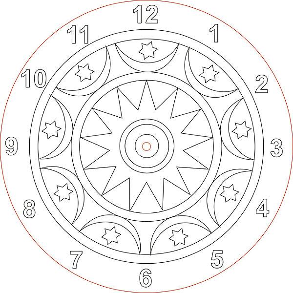 Песочная фантазия Набор для создания часов из песка  Мандала набор для создания фоторамки с декором часовой механизм folia 23336