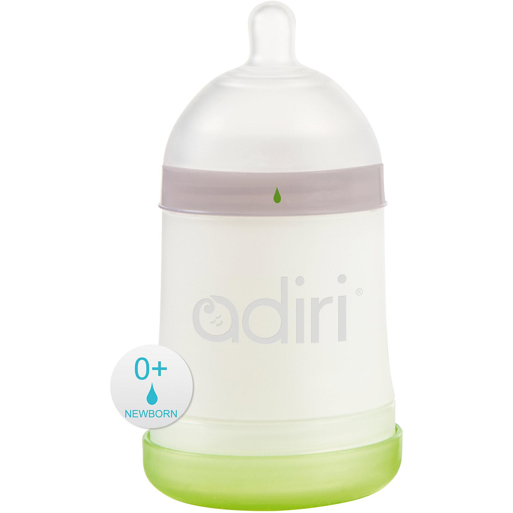 Бутылочка NxGen, Newborn Nurser, 0-3 мес., 163 мл., Adiri, white