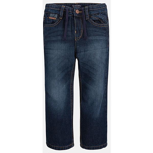 Джинсы для мальчика MayoralДжинсы<br>Универсальные брюки всегда должны быть в гардеробе юного мужчины!<br><br>Дополнительная информация:<br><br>- Крой: свободный крой.<br>- Страна бренда: Испания.<br>- Состав: хлопок 100%.<br>- Подкладка: хлопок 100%.<br>- Цвет: темно-синий.<br>- Уход: бережная стирка при 30 градусах.<br><br>Купить брюки для мальчика Mayoral можно в нашем магазине.<br>Ширина мм: 215; Глубина мм: 88; Высота мм: 191; Вес г: 336; Цвет: синий; Возраст от месяцев: 24; Возраст до месяцев: 36; Пол: Мужской; Возраст: Детский; Размер: 98,104,134,128,122,116,110,92; SKU: 4826438;