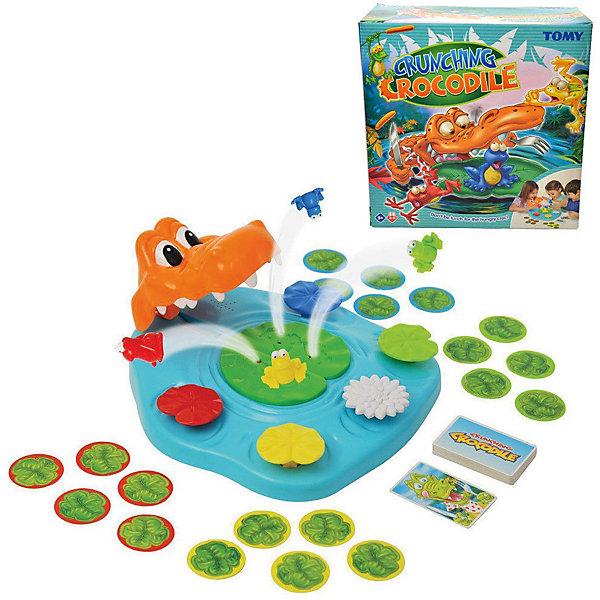 Игра Берегись Крокодила!, TOMYНастольные игры на ловкость<br>Характеристики игры Берегись Крокодила!:<br><br>-возраст: от 5 лет<br>- пол: для мальчиков и девочек<br>- комплект: игровое поле, карточки, 4 лягушки.<br>-количество предполагаемых игроков: 3-5.<br>- материал: пластик, картон.<br>- размер упаковки: 26 * 26 * 12 см.<br>-упаковка: картонная коробка.<br>-вес: 800 гр.<br>-страна обладатель бренда: Великобритания.<br><br>Настольная игра Берегись Крокодила! от компании Tomy носит развлекательный характер. В нее можно играть небольшой компанией: с семьей или лучшими друзьями. Ведущий переворачивает картонные карточки, на которых изображены различные животные. Если попадается картинка с крокодилом, то надо быстро нажать на листок лилии. Цель игры - спасти свою лягушку от крокодила. Все элементы набора имеются насыщенные цвета.<br>Карточная игра поможет развить внимательность и реакцию. Время за ней пролетит быстро и весело.<br><br>Игру Берегись Крокодила! торговой марки Tomy (Томи) можно купить в нашем интернет-магазине.<br>Ширина мм: 275; Глубина мм: 273; Высота мм: 121; Вес г: 804; Возраст от месяцев: 48; Возраст до месяцев: 84; Пол: Унисекс; Возраст: Детский; SKU: 4827977;