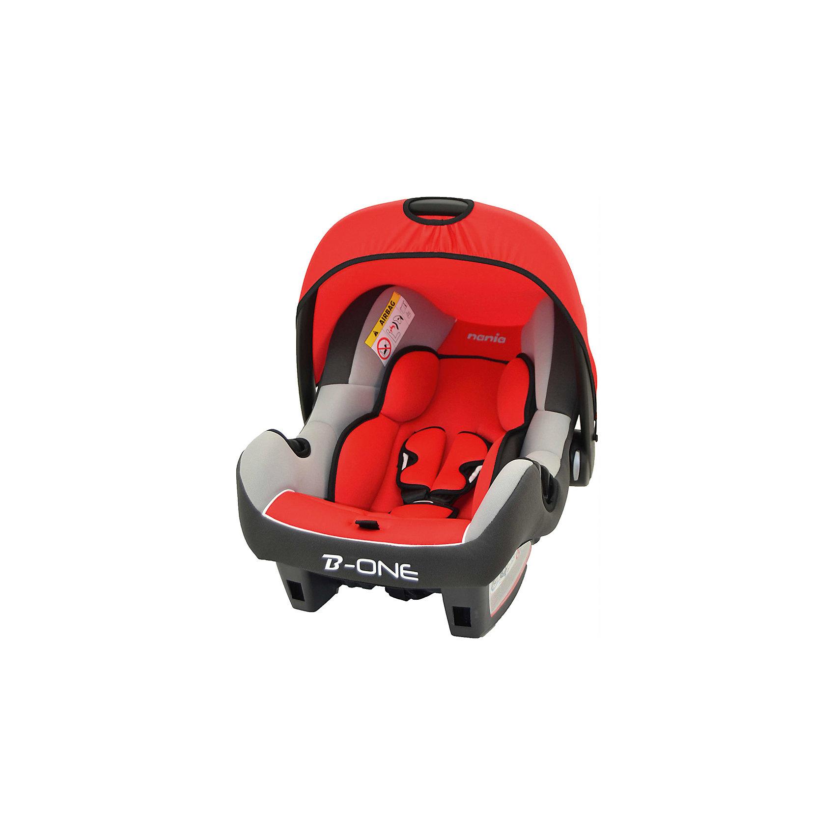 Автокресло Nania BEONE SP 0-13 кг, AGORA CARMIN LUXE SHADOW/GRIS CLAIR серый/красный/светло-серый
