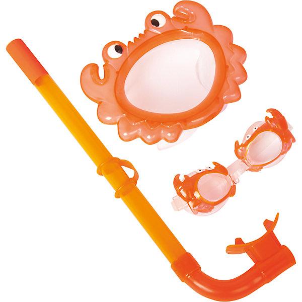 Купить Набор для ныряния детский, морские животные, оранжевый, Bestway, Китай, Унисекс